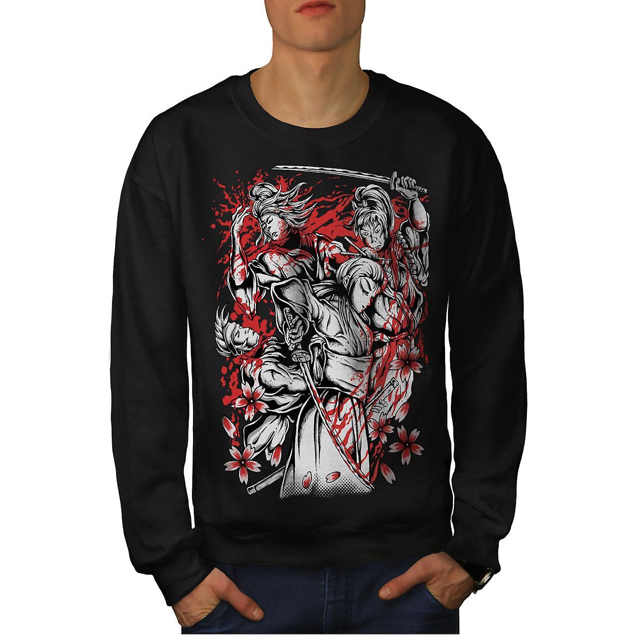 noirSweatshirt chevalier de héros guerrier hommes