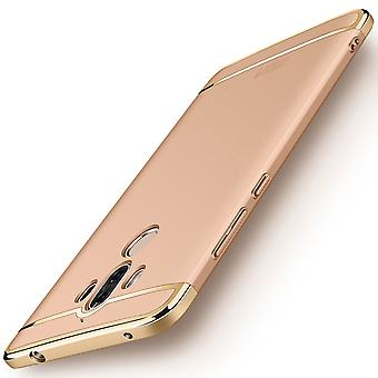 Cell phone cover case for Huawei mate 10 Pro bumper 3 in 1 cover chrome gold