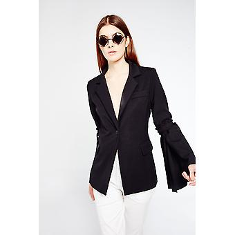 Style Mafia Blazer With Flared Sleeve Detail