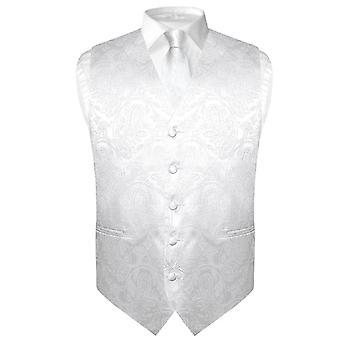 Herren Paisley Design Kleid Weste & Krawatte Hals Krawatte Set