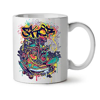 Fashion Graffiti Street NEW White Tea Coffee Ceramic Mug 11 oz | Wellcoda