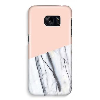 Samsung S7 Full Print Case - A touch of peach