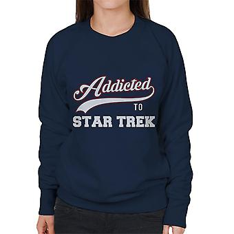 Addicted To Star Trek Baseball Font Women's Sweatshirt