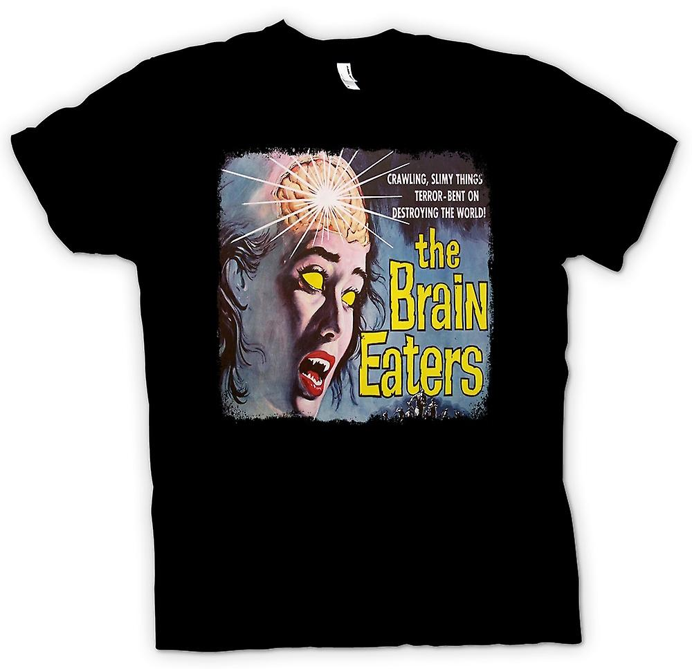 Womens T-shirt-Brain Eaters - skräck - B film