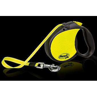 Flexi Retractable Neon Dog Lead, M/L Size Leash, Tape 5m, For a Dog up to 50kg