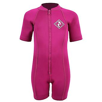 Two Bare Feet Neoprene Classic Baby Wetsuit - Raspberry