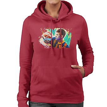 Sidney Maurer Original Portrait Of Neymar Barcelona Women's Hooded Sweatshirt