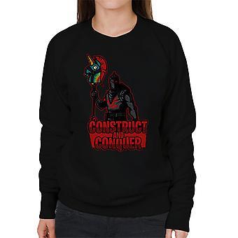 Zu konstruieren Sie und zu erobern Sie Fortnite Damen Sweatshirt