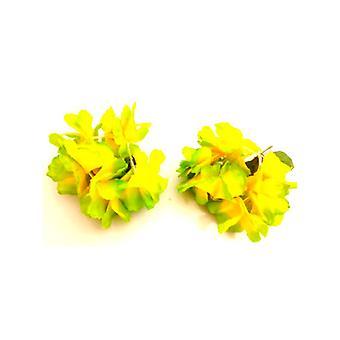 Collares de flores Superior pulsera/tobillera - verde