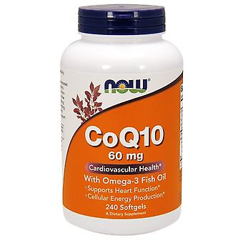 Now Foods CoQ10 with Omega-3 60 mg 240 Softgels