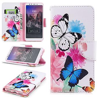 For Sony Xperia XZ2 leatherette bag book motif 39 protection sleeve case cover pouch new