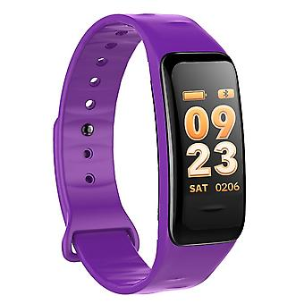 C1S Multifunctional Task bracelet with color screen-Purple
