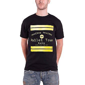 Pokemon Mens T Shirt Black Pallet Town Kanto Official