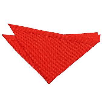 Fazzoletto da taschino in maglia rossa