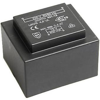PCB mount transformer 1 x 230 V 1 x 18 V AC 4.80 VA 266 mA