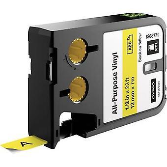 Labelling tape (multi-purpose vinyl) DYMO 1868771 XTL Tape colour: Yellow Font colour:Black 12 mm 7 m