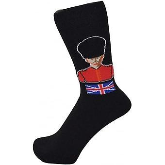 Union Jack slitage brittiska gardist Design strumpor med Union Jack Motiff