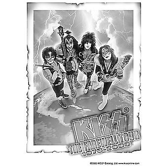 Kiss Farewell Tour Large Fabric Poster / Flag 1100Mm X 750Mm
