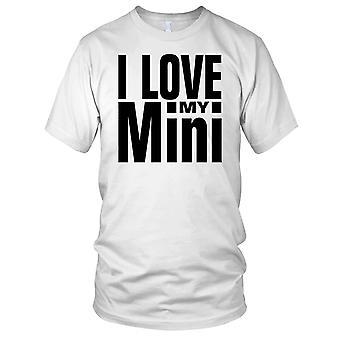 Jeg elsker min Mini klassiske bilen damer T skjorte