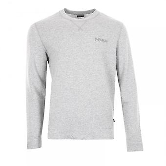 Napapijri Mens Bodo Crew Sweatshirt (Light Grey)