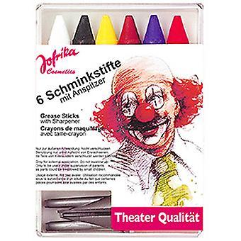 6 Schminkstifte m Spitzer