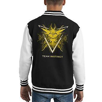 Pokemon Go Team Instinct Electric Logo Kid's Varsity Jacket