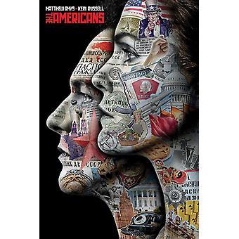 The Americans poster Keri Russell & Matthew Rhys