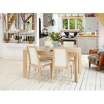 Olten Uno Light Oak Extending Dining Table Brown - Baumhaus