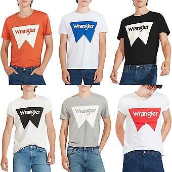 Wrangler Mens Regular Fit Crewneck Short Sleeve Festival Tee T-Shirt Top