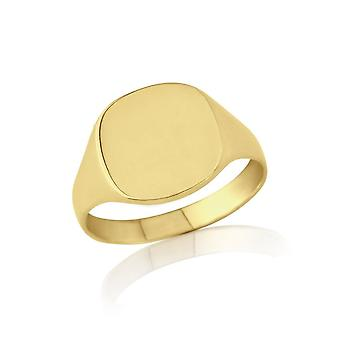 Star Wedding Rings Gold Cushion-Shaped Signet Ring