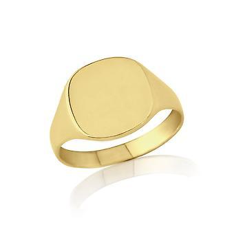 Sterne Trauringe Gold kissenförmig Siegelring