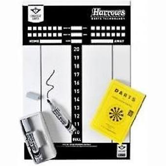 DART scoreboard whiteboard with accessories