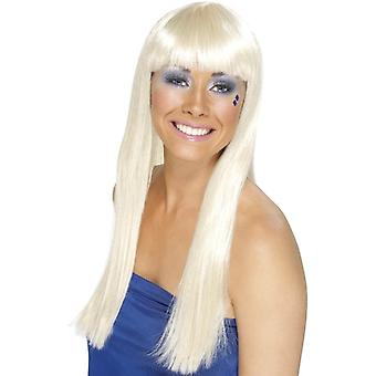 Long Blonde Straight Wig, Dancing Queen Wig, Fancy Dress Accessory
