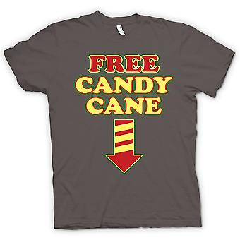 Womens T-shirt - Free Candy Cane - Funny Christmas