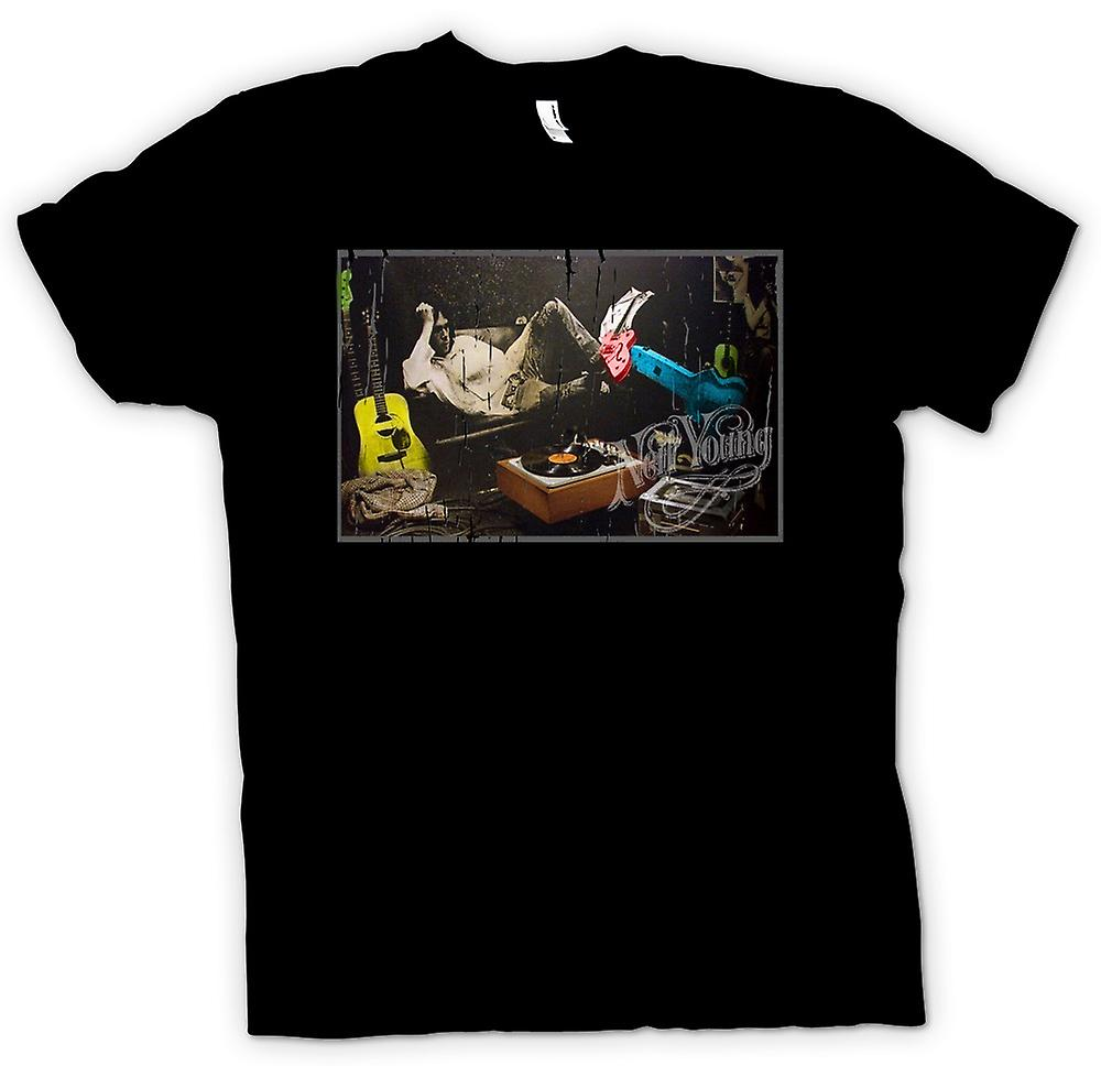 Mens T-shirt - Crazy Horse - Neil Young Rock Legend