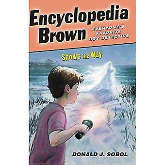 Enzyklopädie-Brown zeigt den Weg