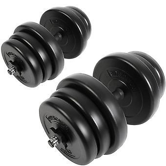 Set d'haltères fitness poids 40 kg sport fitness musculation 0701010