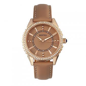Bertha Clara Leather-Band Watch - Khaki