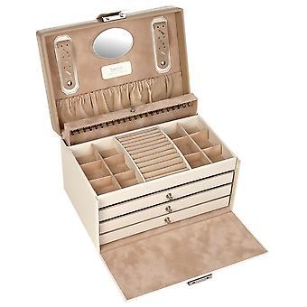 Sacher ювелирные изделия случае шкатулка BELLA FIORE бежевый запираемые ящики
