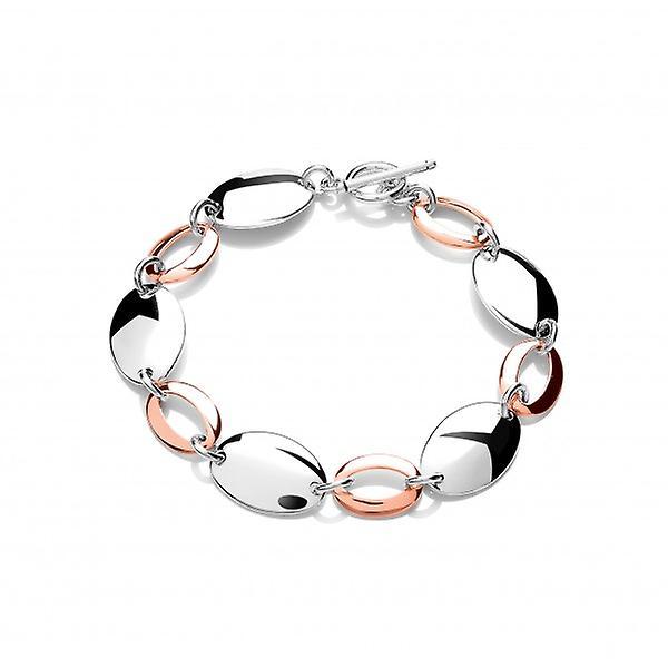 Cavendish French Sterling argent and Copper Ovals Bracelet