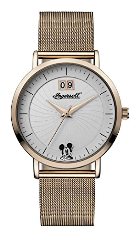 Montre Ingersoll Disney ladies Quartz affichage analogique avec courroie d'unité centrale bcourir et blanc cadran ID00504