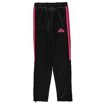 Lonsdale Girls 2 Stripe Tapered Tracksuit Bottoms Trousers Pants Kids