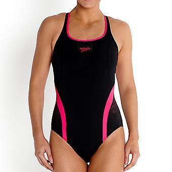 水泳水着 speedo Speedofit ピナクル レディース コスチューム黒/ピンク