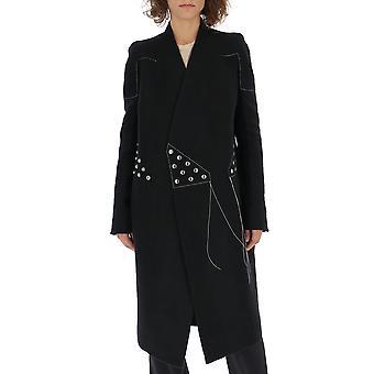 معطف الصوف الأسود ريك اوينز