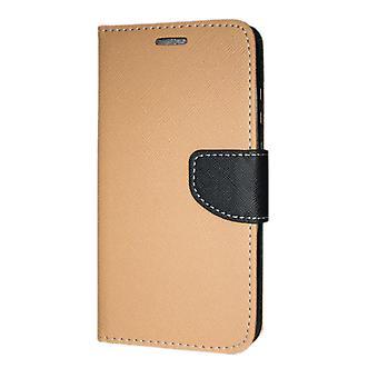 Samsung Galaxy S10 PLUS Wallet Pouch Fancy Case + Hand Strap Gold-Black