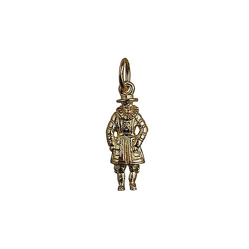 9ct Gold 18x8mm Beefeater Pendant or Charm