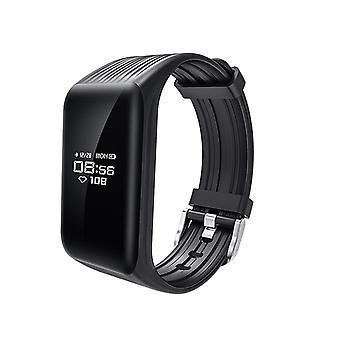 K1 aktivitet armbånd med kontinuerlig puls skærm-sort