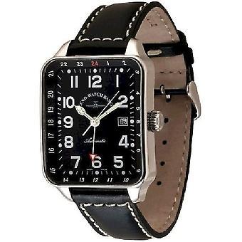 Zeno-watch montre pilote SQ (temps double) 163GMT-a1