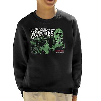 Hammer The Plague Of The Zombies Poster Kid's Sweatshirt