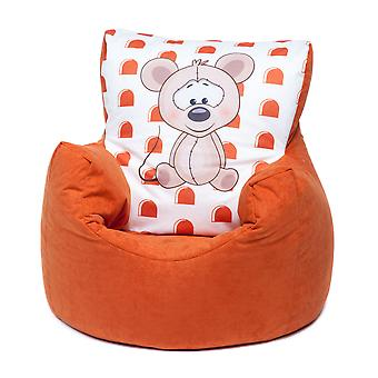 Loft 25® Toddler Animal Print Soft Plush Bean Bag Chair-Mouse, Orange